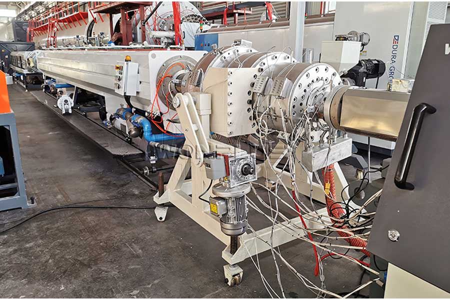 110-315mm HDPE Pipe Extrusion Line Sukses Commissioning